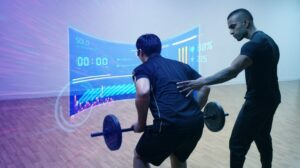 Immersive virtual workout assisted by a certified trainer